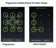Programmer Mobile Phone and Other People