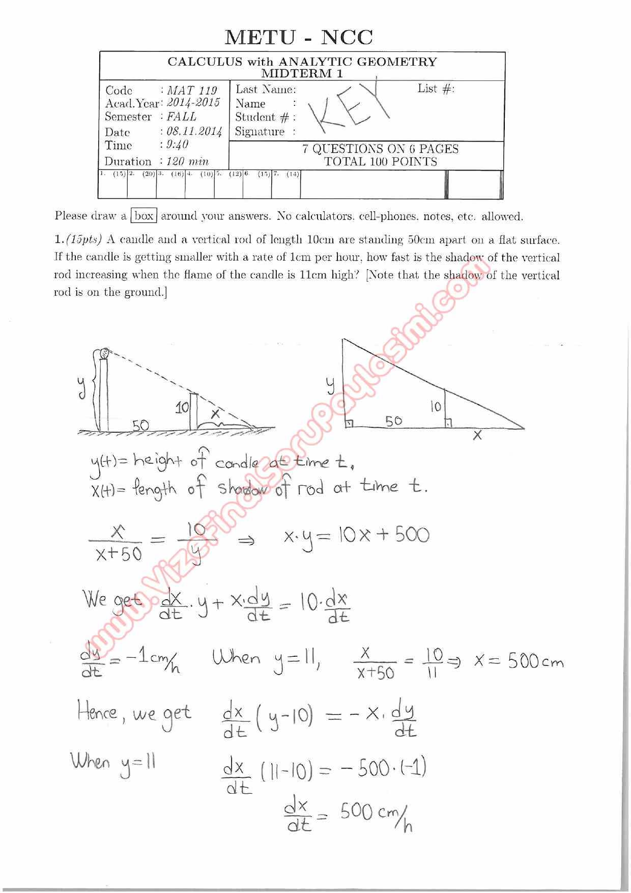 Calculus With Analytic Geometry solution manual