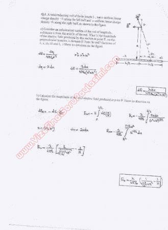Physics-2 First Midterm Questions and Solutions