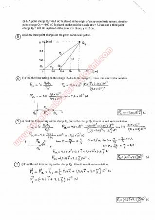 Physics-2 First Midterm Questions and Solutions 3