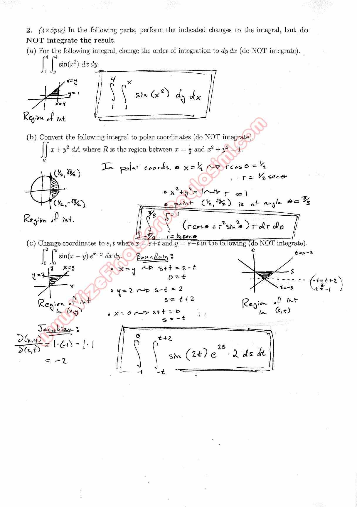 second midterm question papers 2012