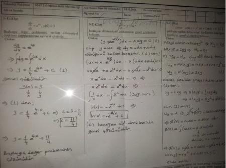 Mühendislik Matematiği Vize Soruları ve Cevapları