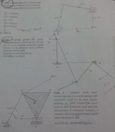Mekanizma Tekniği Dersi Final Soruları ve Cevapları