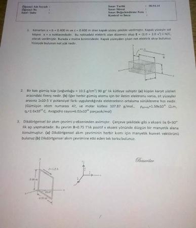 Fizik -2 Final Soruları