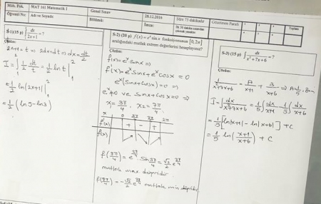 Matematik -1 Final Soruları ve Çözümleri - Mühendislik Fakültesi