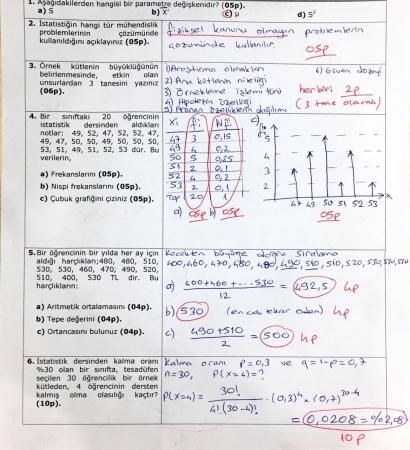 İstatistik Dersi Final Soruları ve Çözümleri - Yazılım Müh