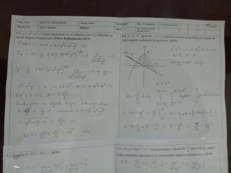 Matematik-2 Final Soruları Ve Cevapları-Mühendislik Fakültesi