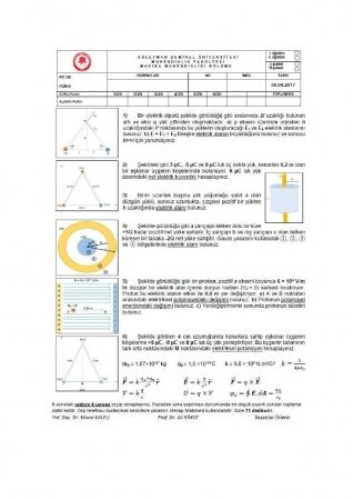 Fizik -2 Vize Soru ve Cevapları