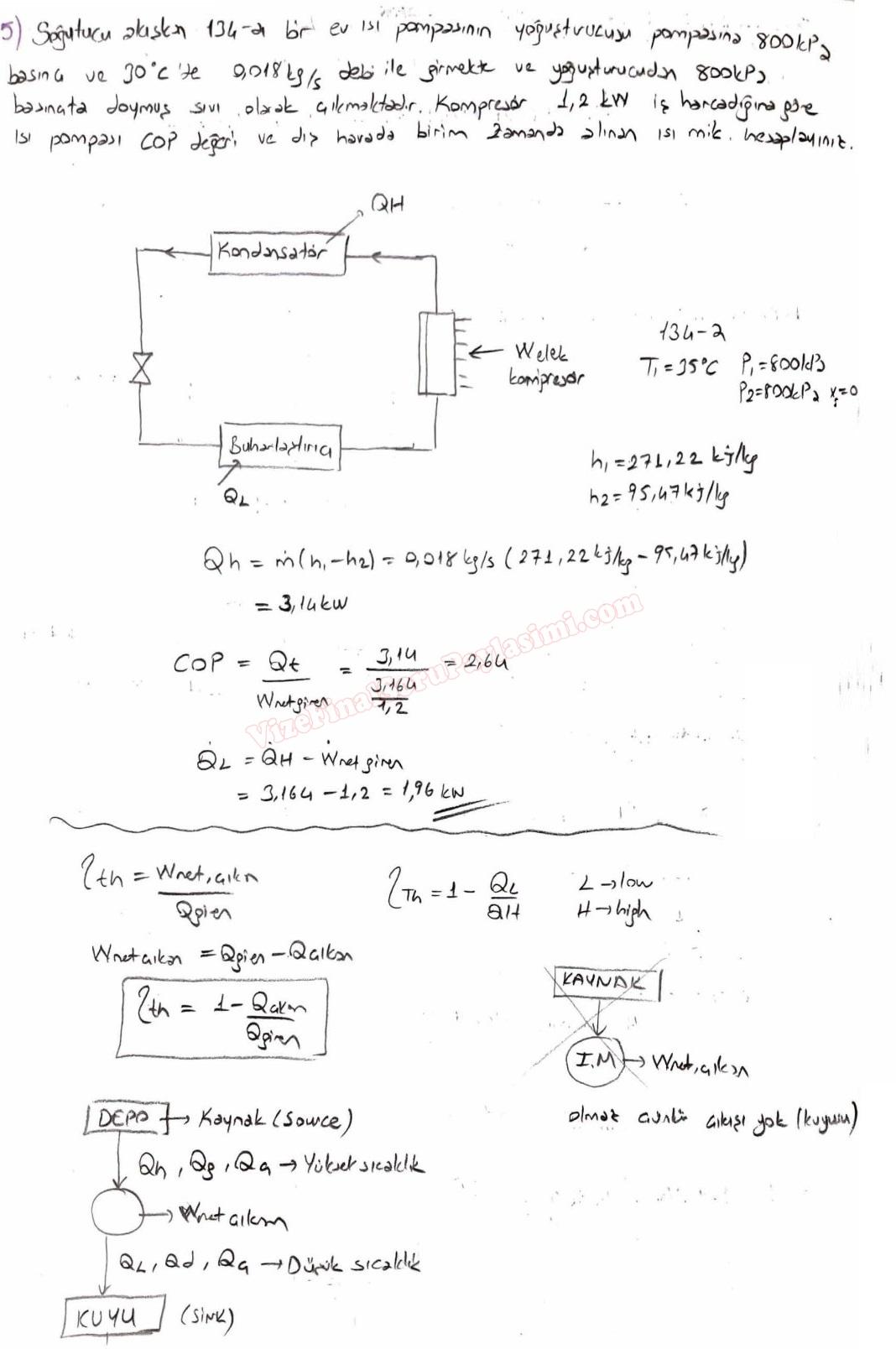 Termodinamik 2 Calisma Sorulari Sayfa 3 Vize Ve Final